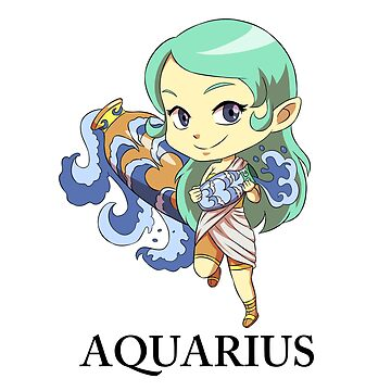 Aquarius Zodiac Chibi by Gaviniko