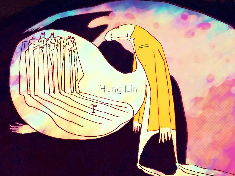A gut full of indigestion by Hung Lin