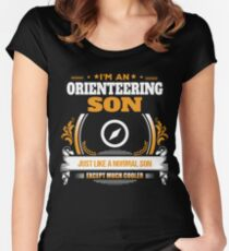 Orienteering Son Christmas Gift or Birthday Present Women's Fitted Scoop T-Shirt