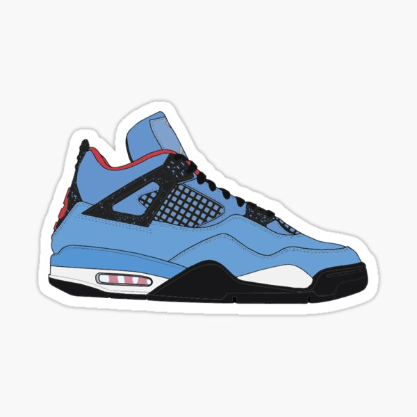 "Air Jordan IV (4) ""Cactus Jack"" Sticker"