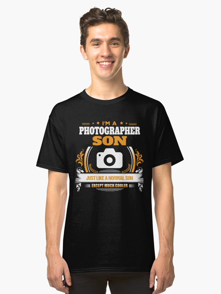 Photographer Son Christmas Gift or Birthday Present Classic T-Shirt Front
