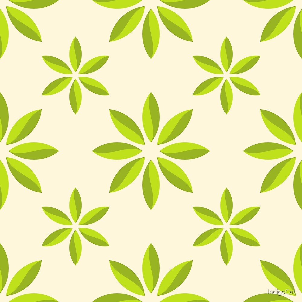 Abstract flower seamless color pattern. by IndigoCat