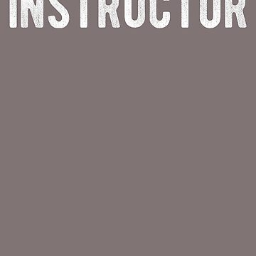 Instructor Distressed Style Employees Official Uniform Work by FancyFrocks