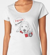 Labrador photographer art Women's Premium T-Shirt