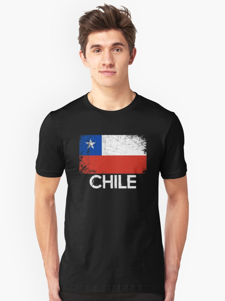 Chilean Flag Design   Vintage Made In Chile Gift Unisex T-Shirt Front