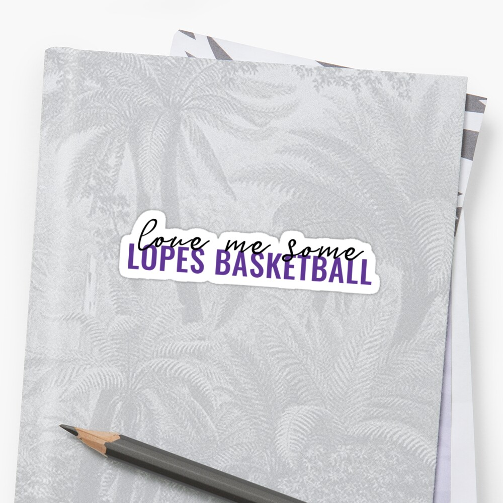 Love Me Some Lopes Basketball Sticker by lindsayyt8