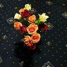 Red, Orange and Yellow Roses by SunriseRose