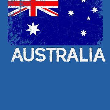 Australian Flag Design | Vintage Made In Australia Gift by melsens