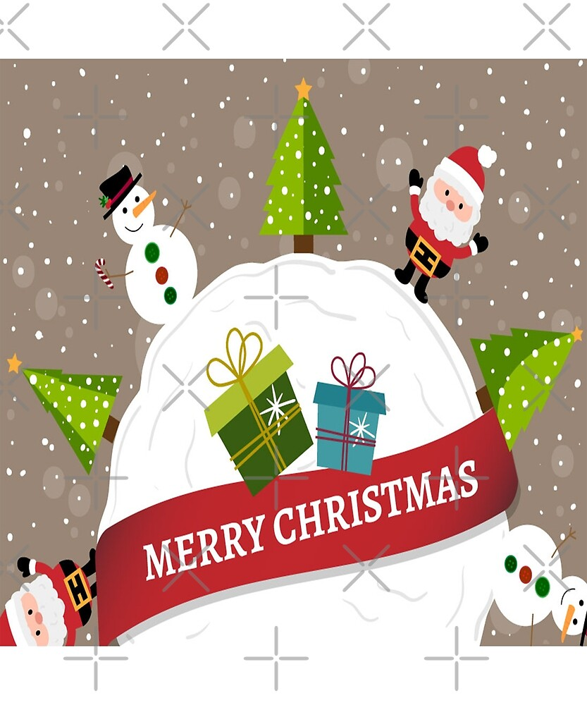 Merry Christmas From Santa & Snowman by Malgharbawi