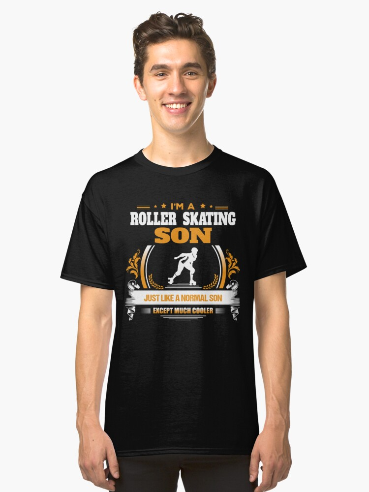 Roller Skating Son Christmas Gift or Birthday Present Classic T-Shirt Front