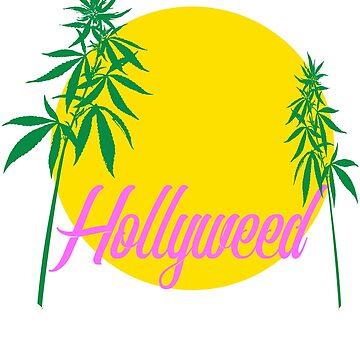 Hollyweed T Shirt - marijuana, bong, spliff, joint by antzyzzz