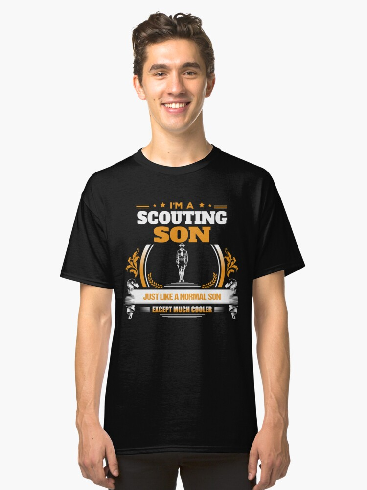 Scouting Son Christmas Gift or Birthday Present Classic T-Shirt Front