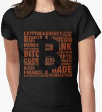 BITCOIN - Cryptocurrency Women's Fitted T-Shirt