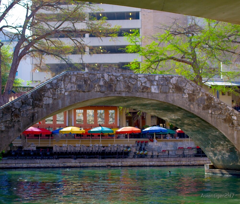 Bridge at the San Antonio's Riverwalk by Asiantiger247