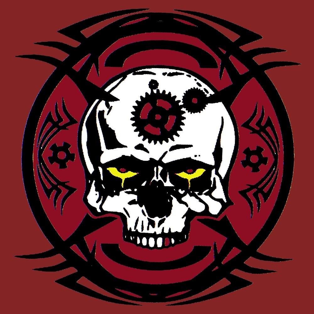 Steampunk Clockwork Skull  by zirellryk