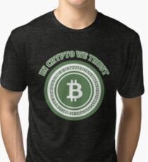 BITCOIN - In Crypto We Trust Tri-blend T-Shirt