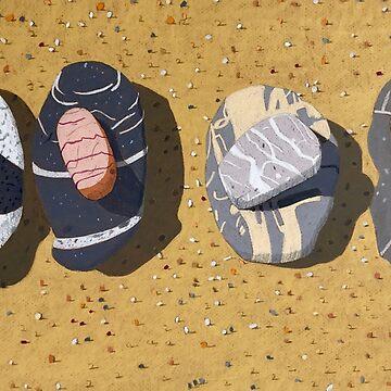 Beach Stones, Port Macquarie by artkleko