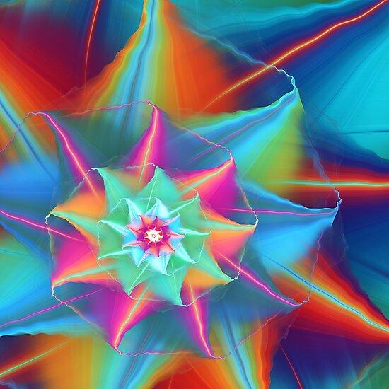 Rainbow flower by Klavdiya Krinichnaya