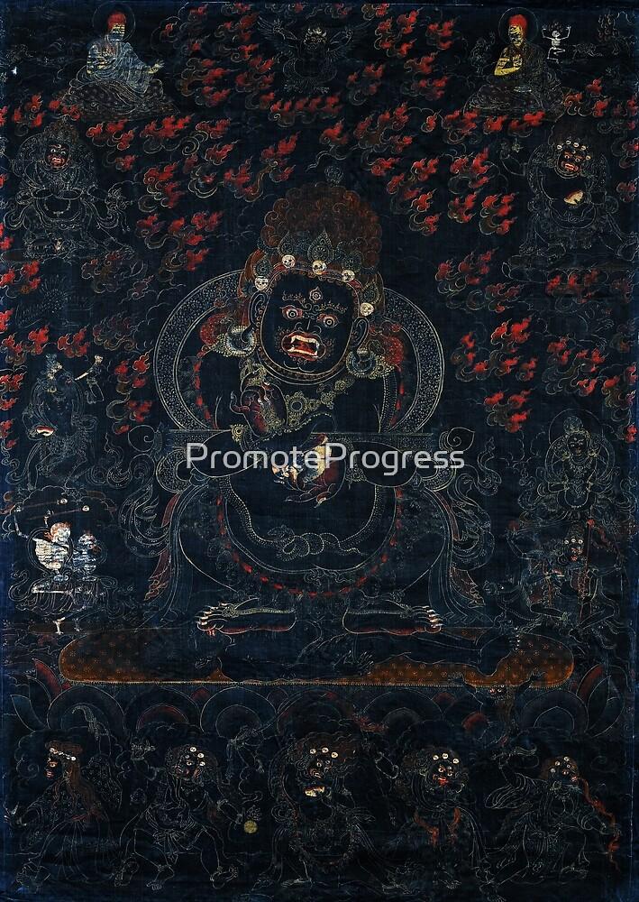 Mahakala, Protector of the Tent (Tibetan Buddhism) by PromoteProgress