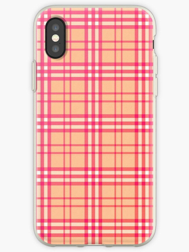 Modern Pink Burberry inspired pattern by stellaandgrace