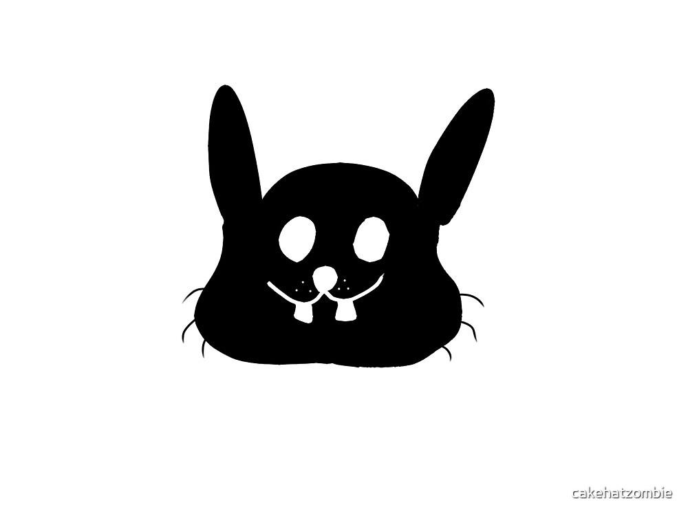 bunny silhouette by cakehatzombie