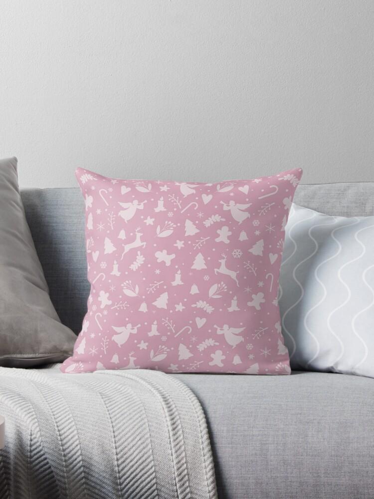 Pink Christmas pattern by ValentinaHramov