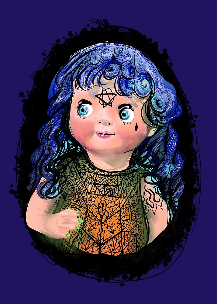 Scary googly eyed doll by Neo-shop
