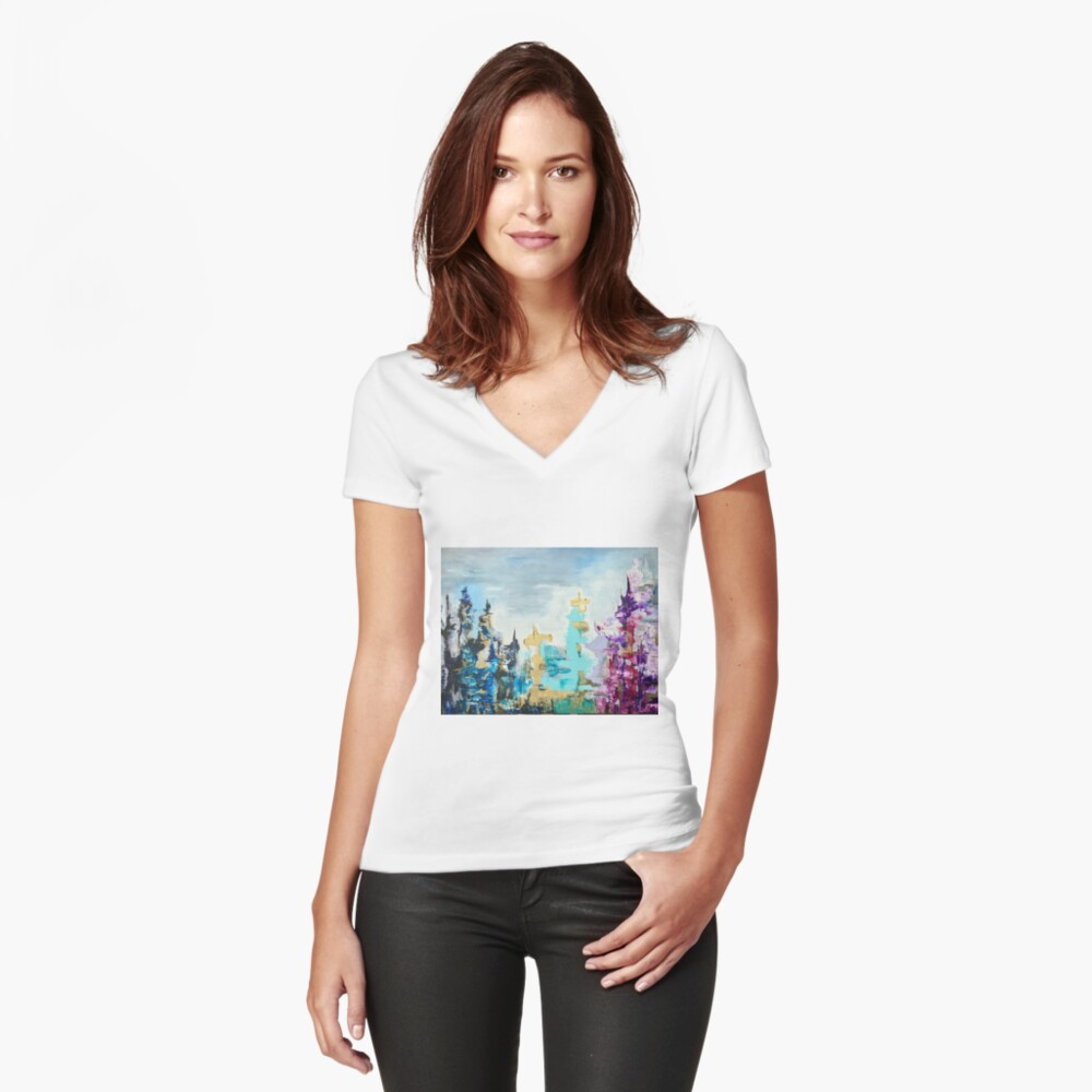 Metropolis  Women's Fitted V-Neck T-Shirt Front