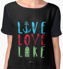 Live love lake gift Chiffon Top