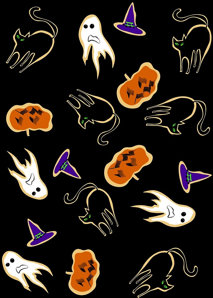 Halloween cookies pattern by Neo-shop