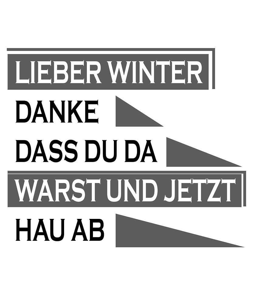 German word :lieber winter  by aheadclothing