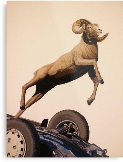 Goat - Josh Keyes by Cesar Costa