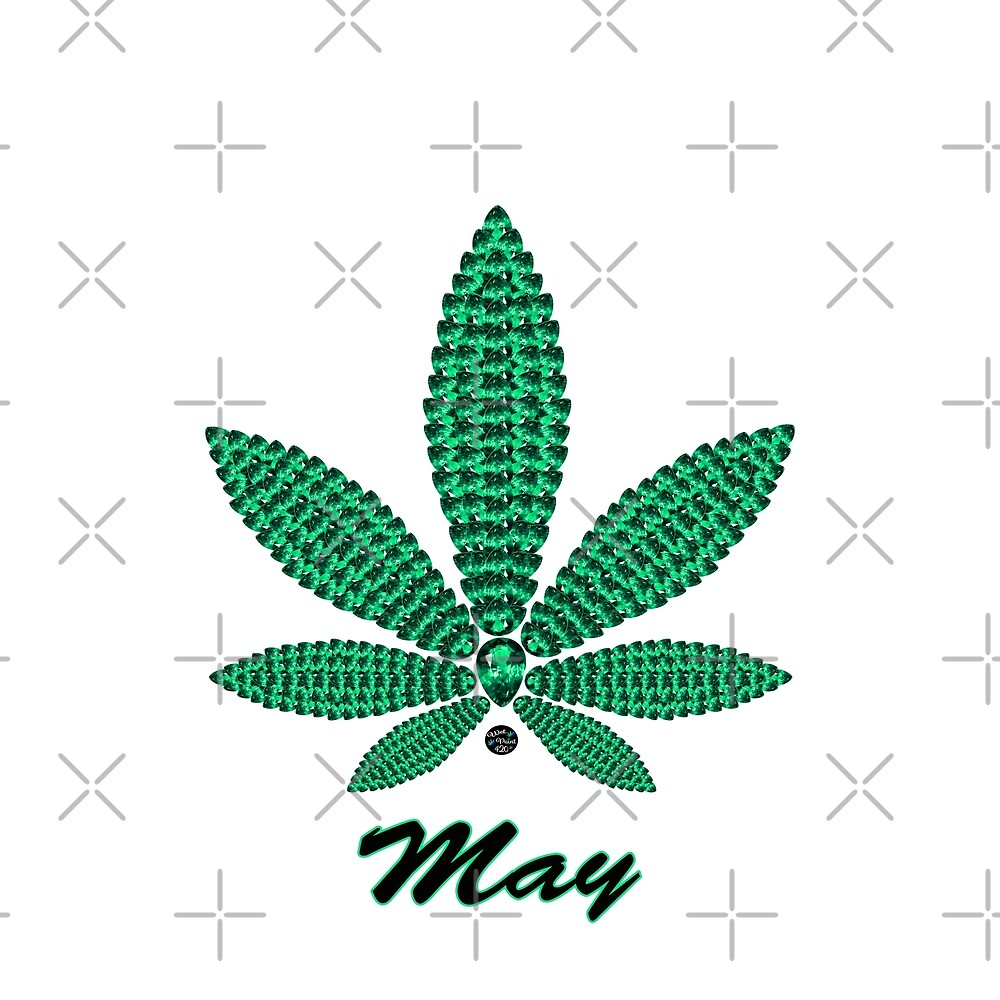 Birthstoned Leaf of Month, May Emerald by WetPaint420