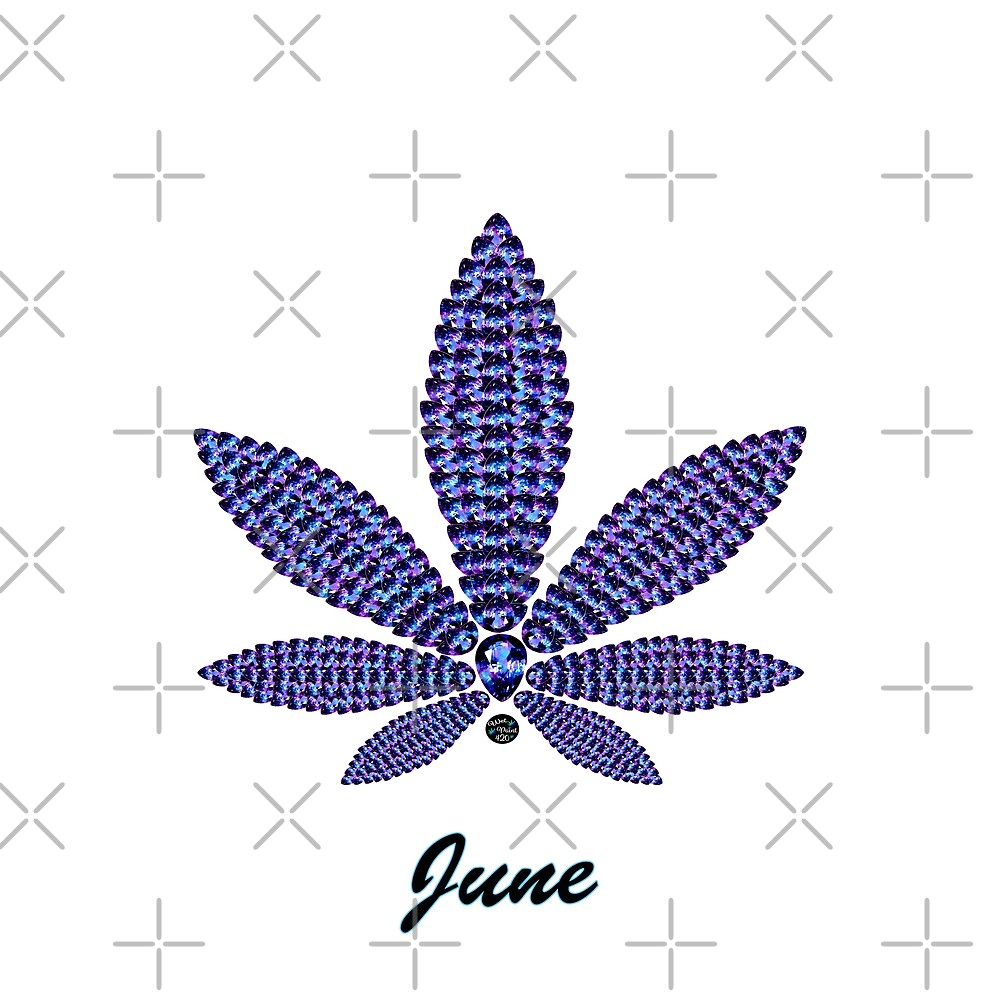Birthstoned Leaf of Month, June Alexandrite by WetPaint420