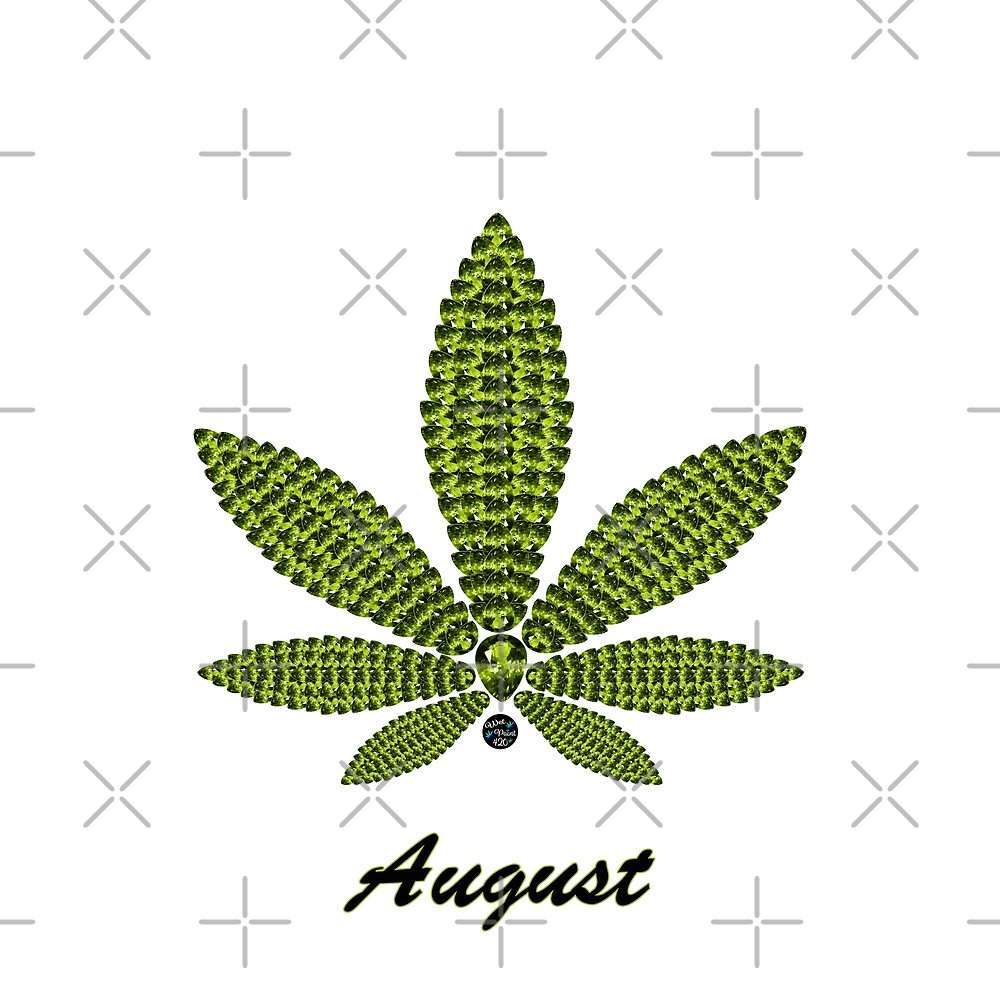 Birthstoned Leaf of Month, August Peridot by WetPaint420