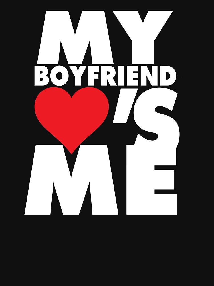 My boyfriend loves me couples t-shirt by mamatgaye