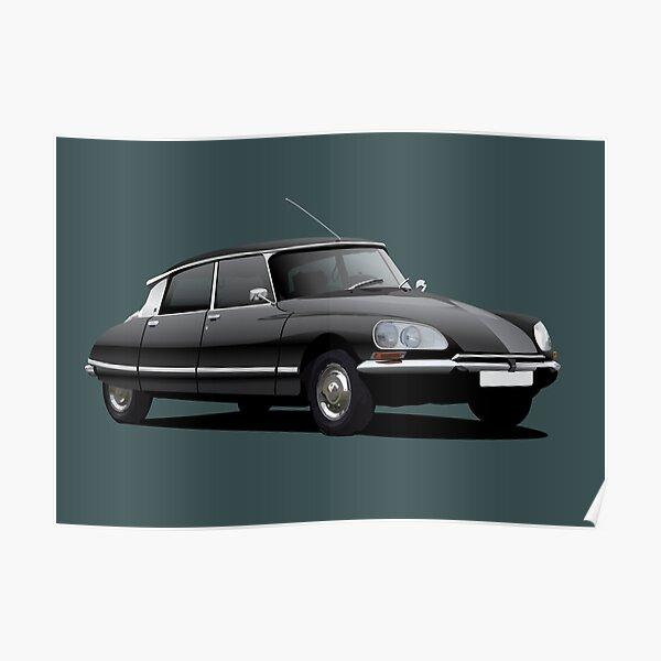 Citroen DS illustration, noir Poster