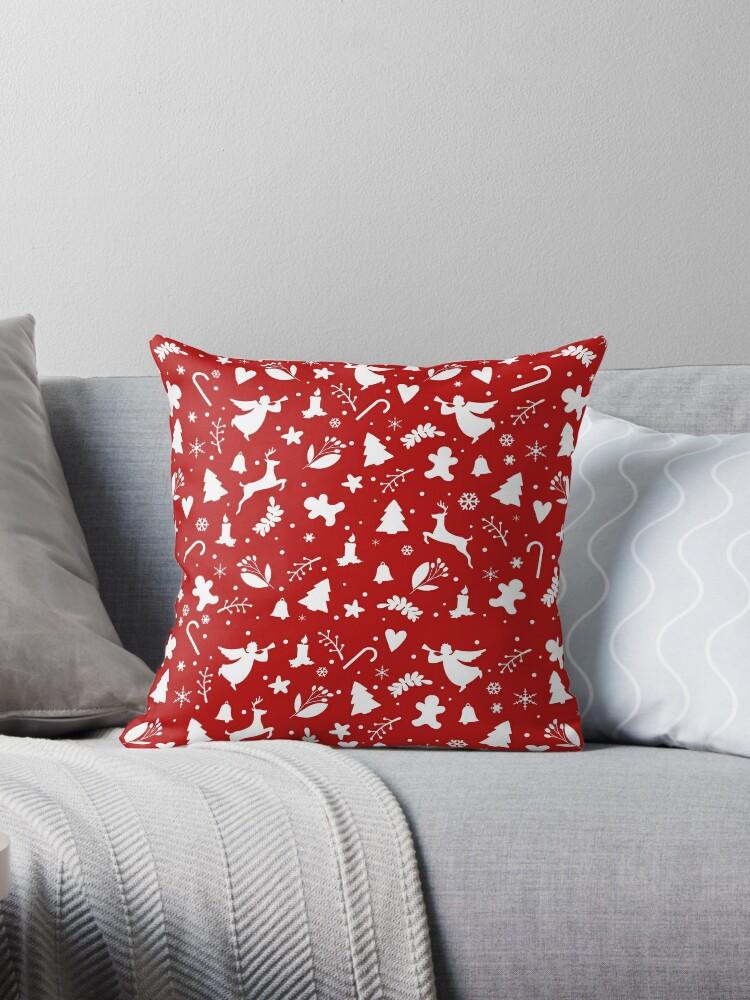 Red Christmas pattern by ValentinaHramov