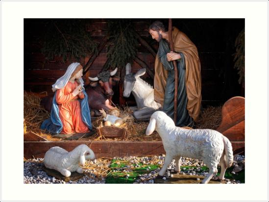 Christmas and Christianity. Nativity scene. by Giuseppe 23 Esposito
