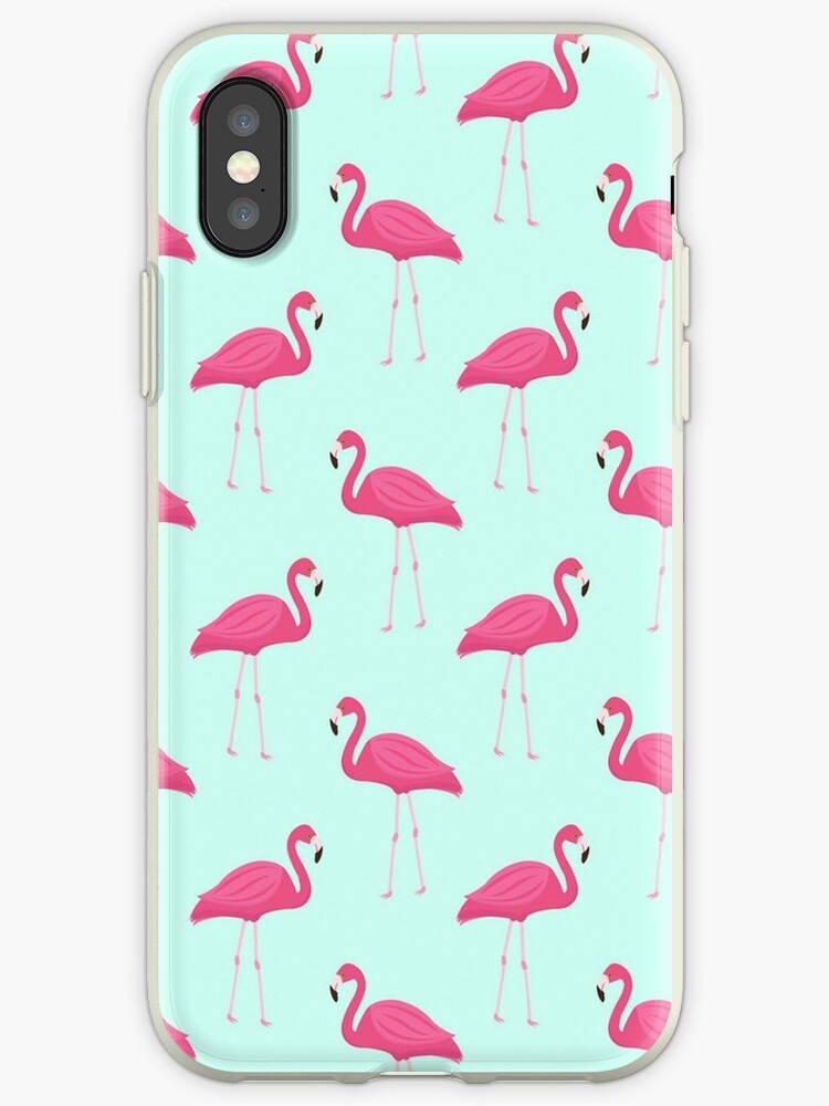 Flamingo and Blue by annefloral