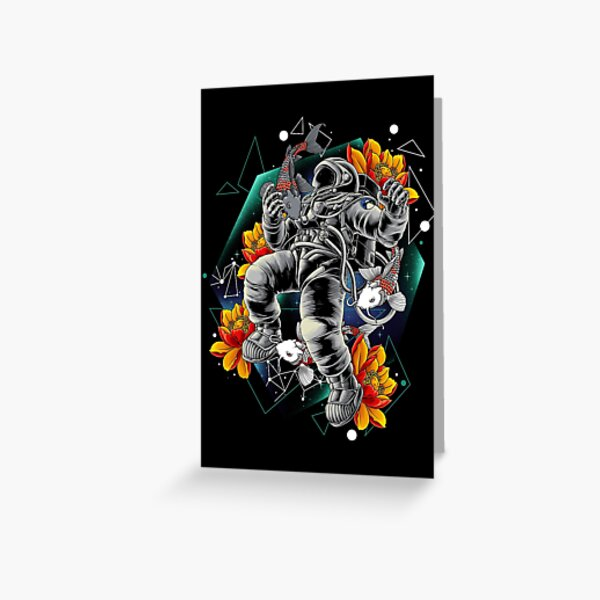 Lucky Spaceman Greeting Card