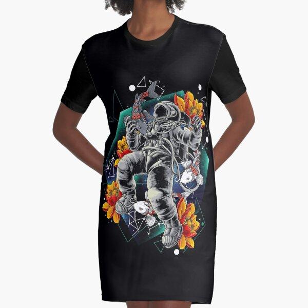 Lucky Spaceman Graphic T-Shirt Dress