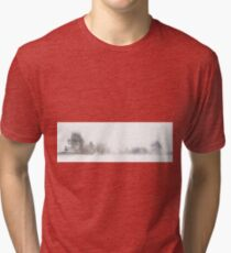 A Line of Trees in the Snow Tri-blend T-Shirt