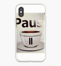 Pause, have a nice pausr iPhone Case