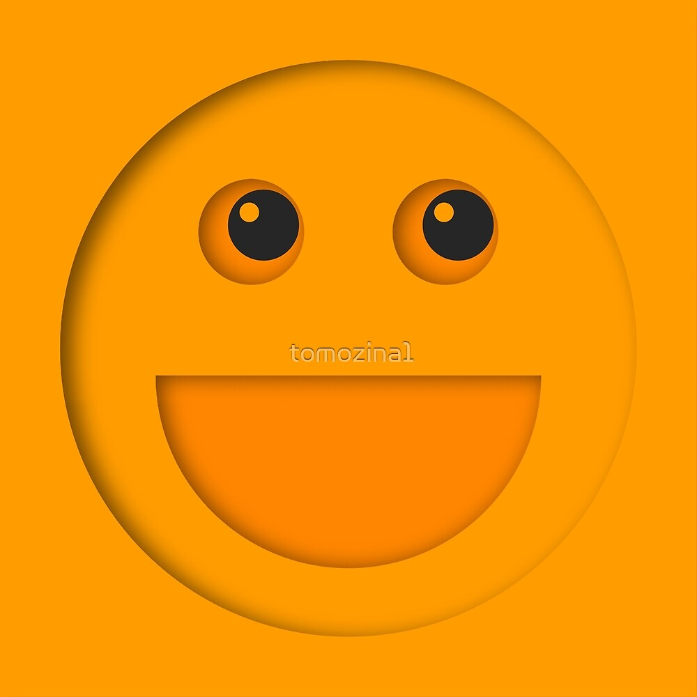 Yellow smiling face by tomozina1