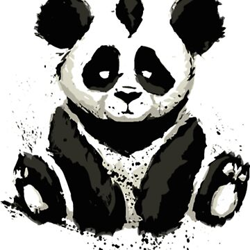 Inked Panda Bear t shirt by Caitlin123123
