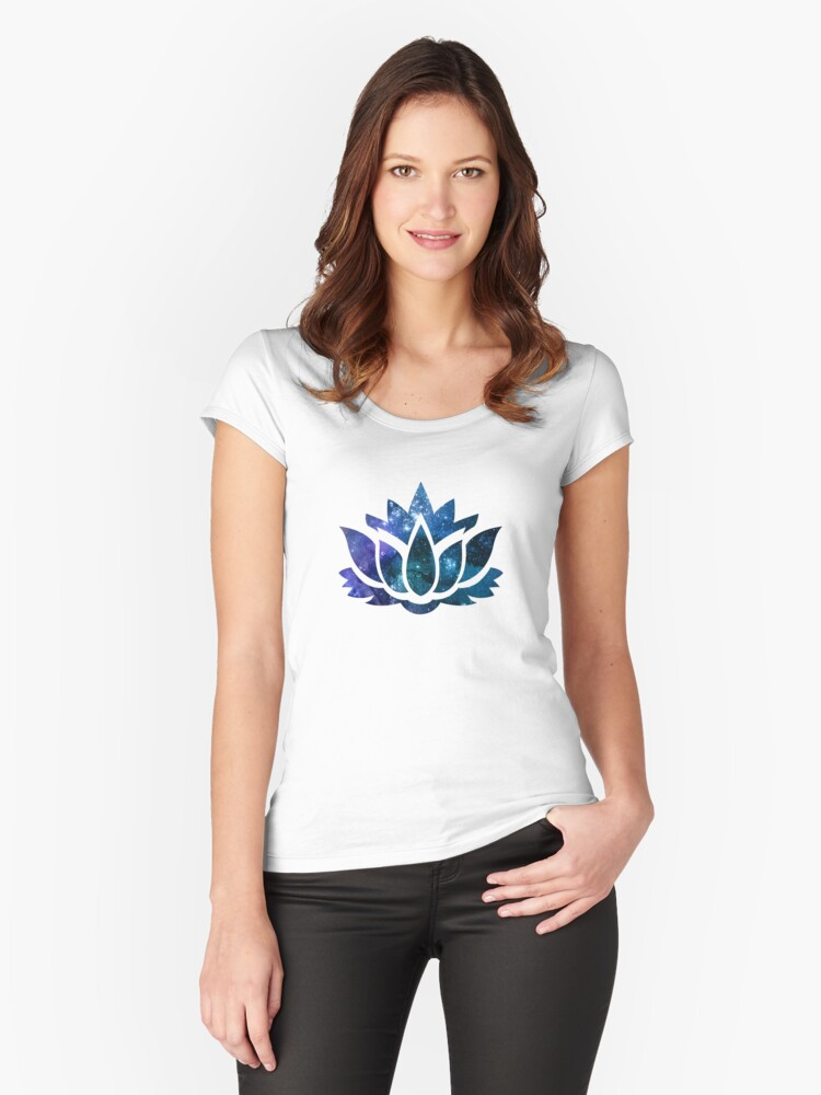 Lotus Flower Women's Fitted Scoop T-Shirt Front