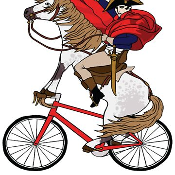 Napoleon Riding Horse Who's Riding A Bike t shirt by Caitlin123123