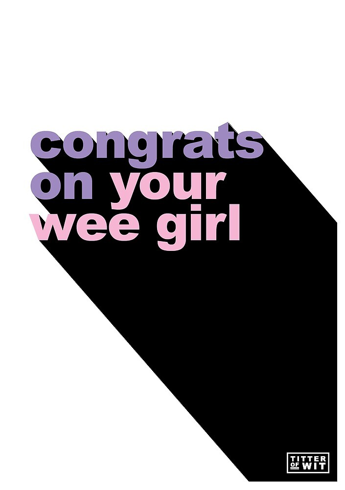 congrats on your wee girl - pink & purple by FayeFaye