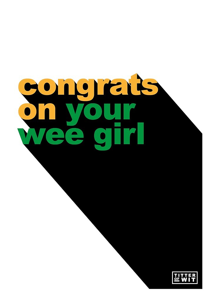 congrats on your wee girl - green & yellow by FayeFaye